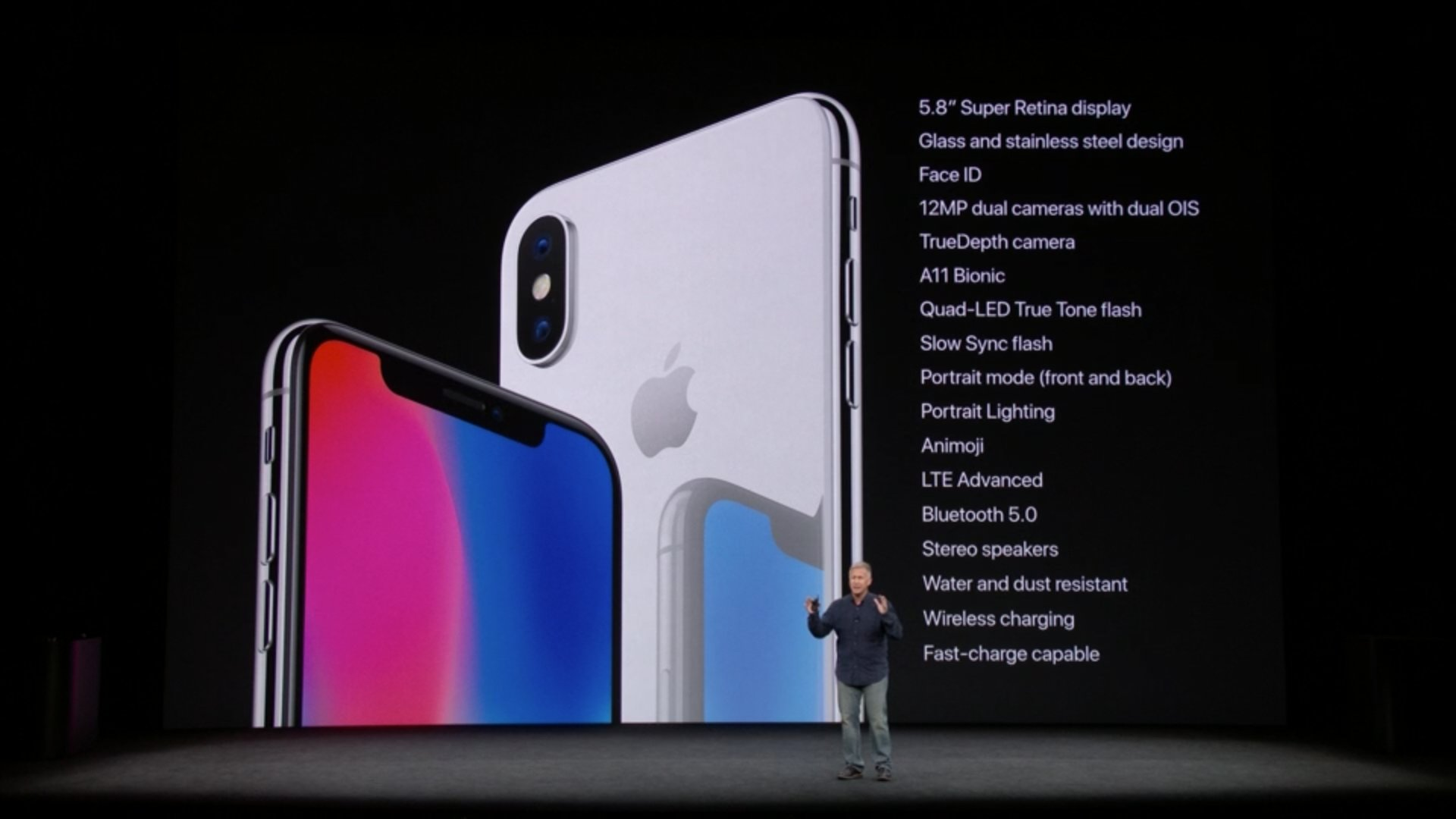 One last look at the iPhone X and all of the new features. #AppleEvent https://t.co/eWr5HeWZkk