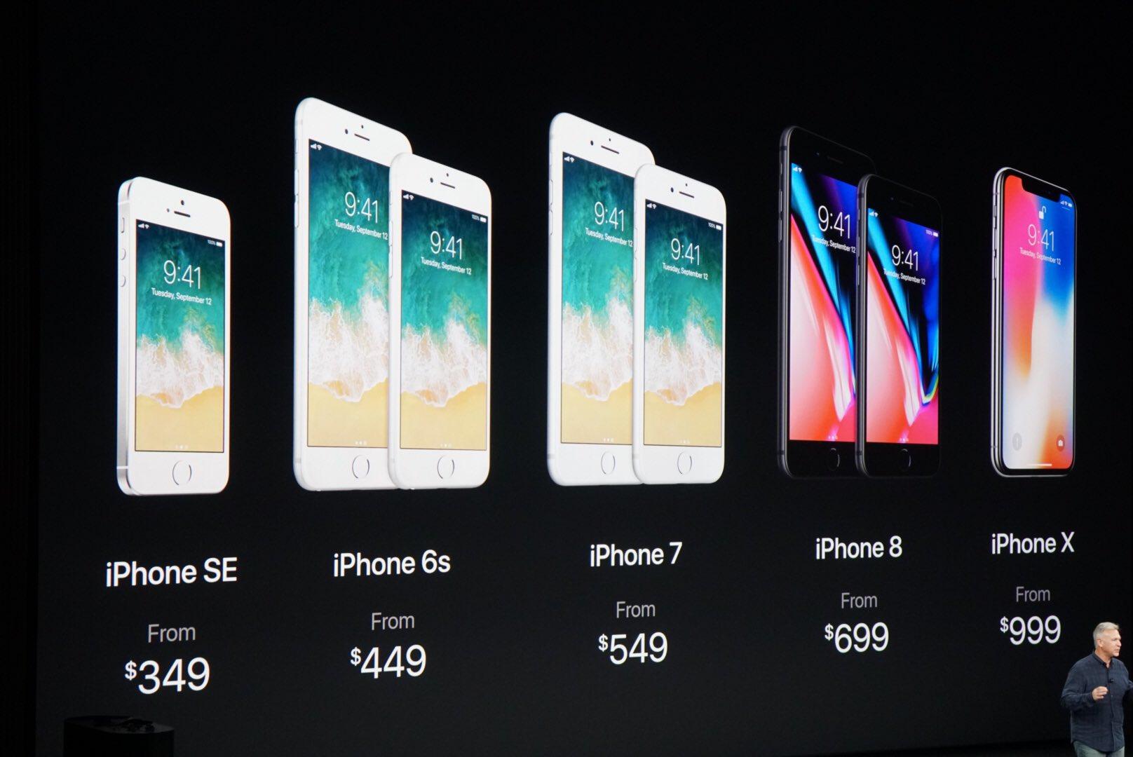 Full line up!!  iPhone X ships Nov 3 - preorder Oct 27!! $999 https://t.co/fobfLtN6sV