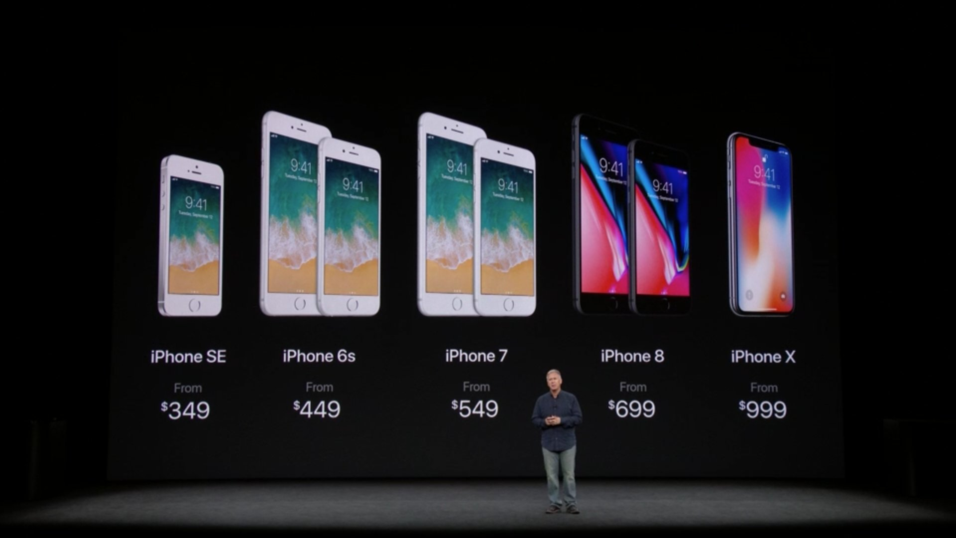 The new iPhone lineup. #AppleEvent https://t.co/8GYgkEqIgz