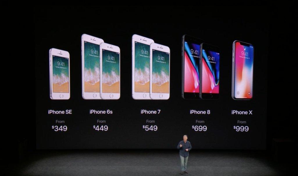 RT @iPhoneVeneno: Así queda la linea de iPhones disponible a la venta y sus precios: #AppleEvent #iPhone8 #iPhoneX https://t.co/qSz9eXSRnx