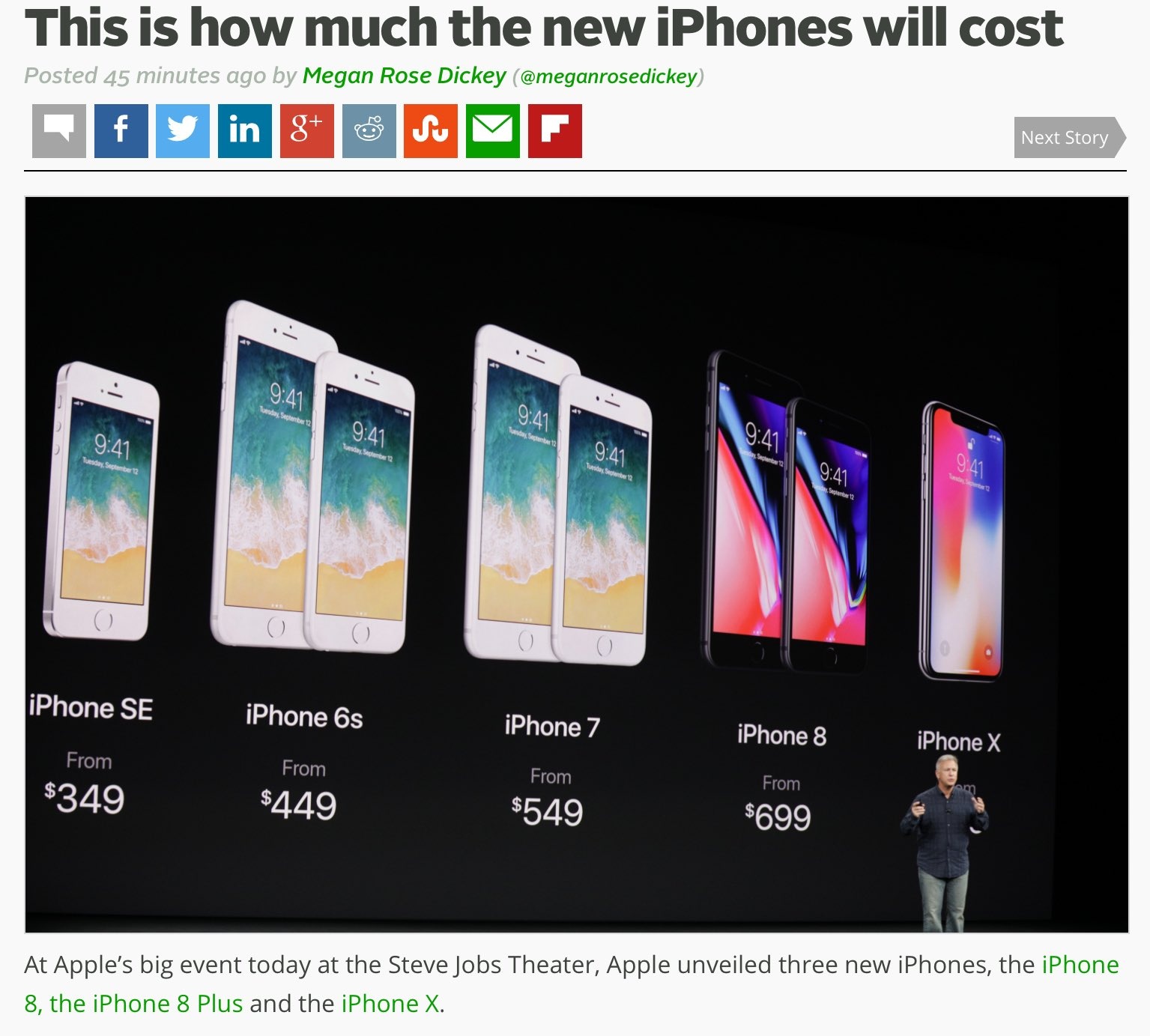 According to this @TechCrunch photo, the iPhone X will cost one human life. https://t.co/1NHMoGCucq