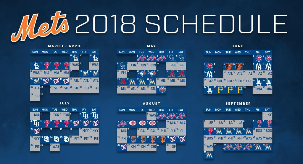Take a �� ahead to 2018...Check out next year's full schedule! #Mets https://t.co/SVyjq474sB https://t.co/pHnm49qeL7
