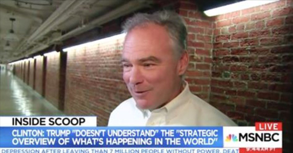 Clinton Running Mate Tim Kaine Says He Didn't Get Advance Copy of Her Book … SAD https://t.co/O4oiO10YXa https://t.co/OxZCRaYrCV