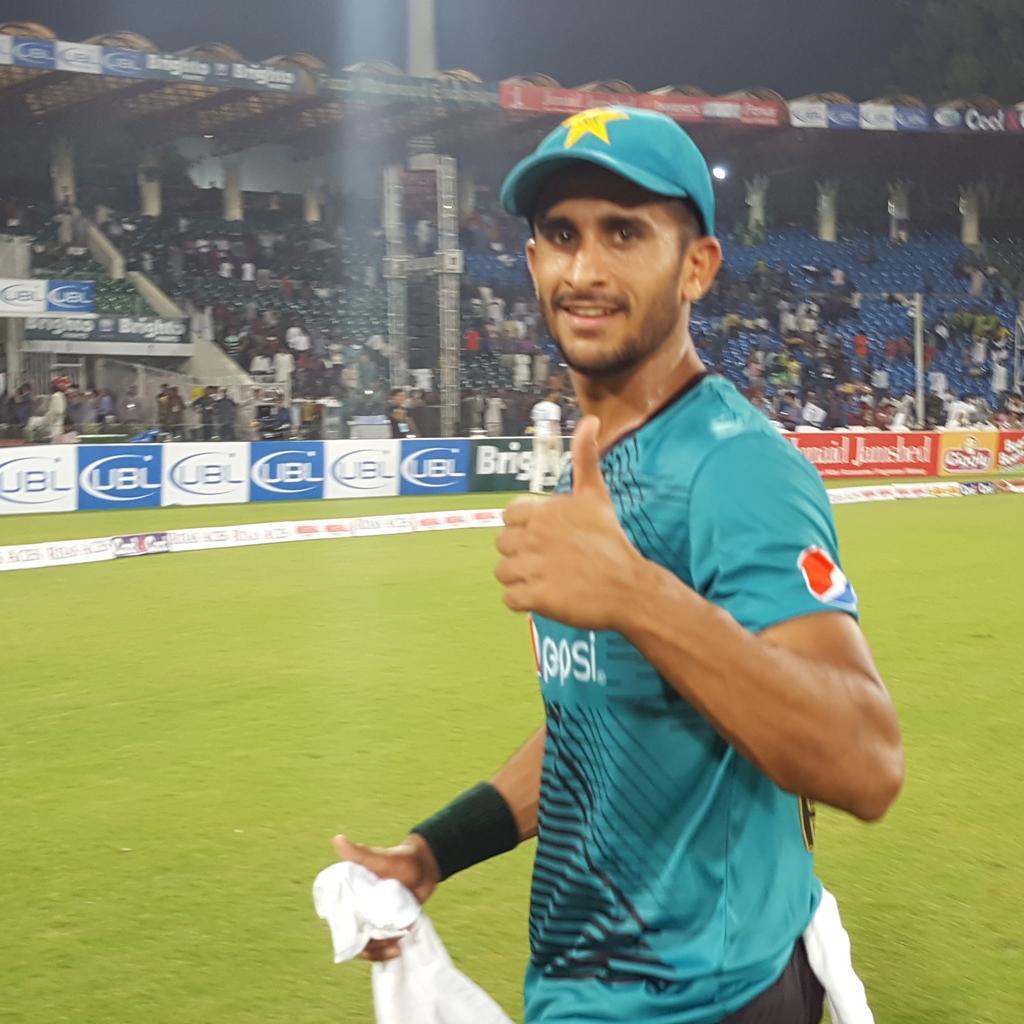 RT @TheRealPCB: One happy Hasan #PAKvWXI #cricketkihalalala https://t.co/rkn4apTask