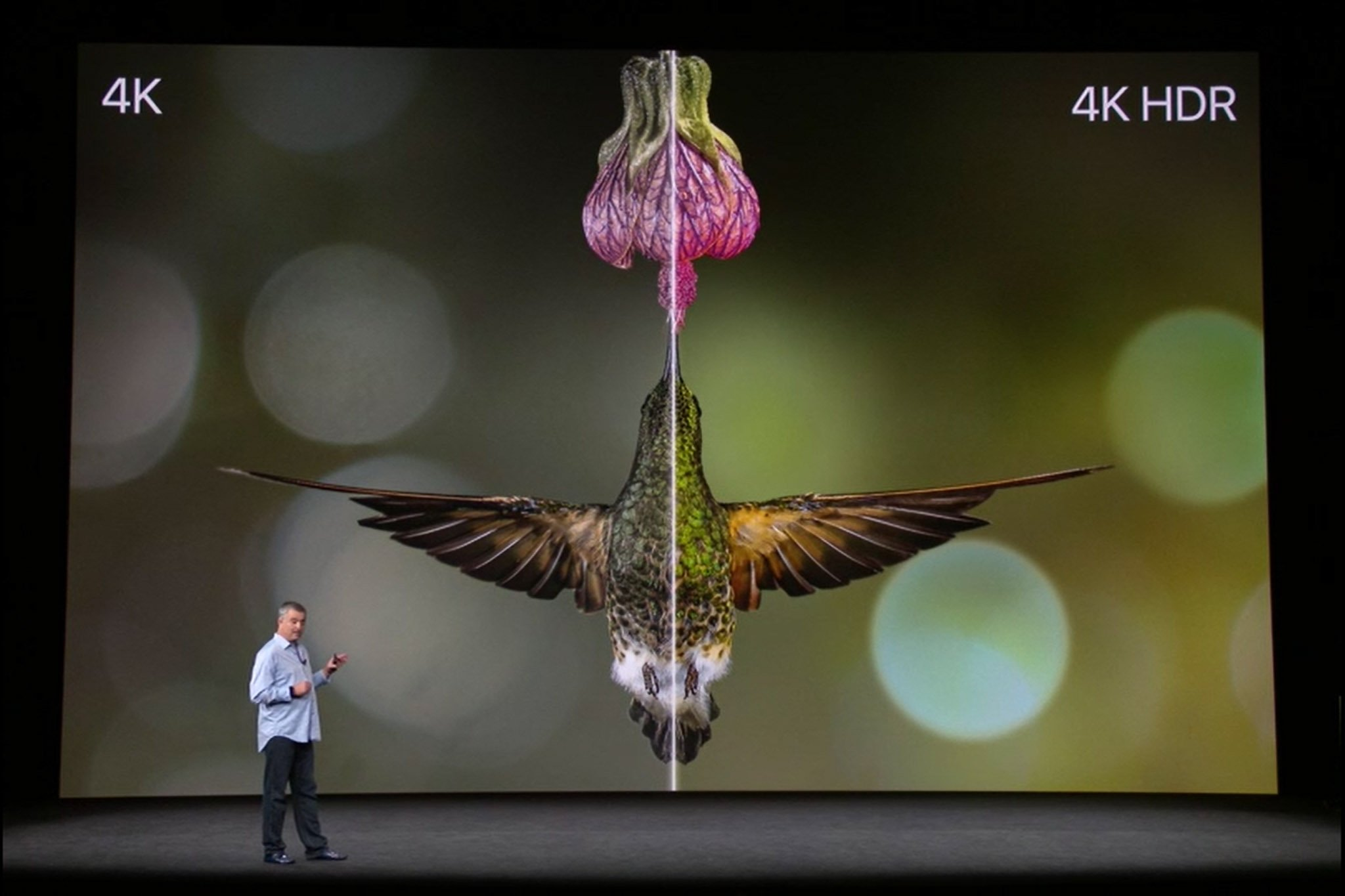 Apple TV 4K: Eddie Cue says high dynamic range (HDR) is more important than 4x pixel resolution. #AppleEvent https://t.co/LVAAUvsXT4