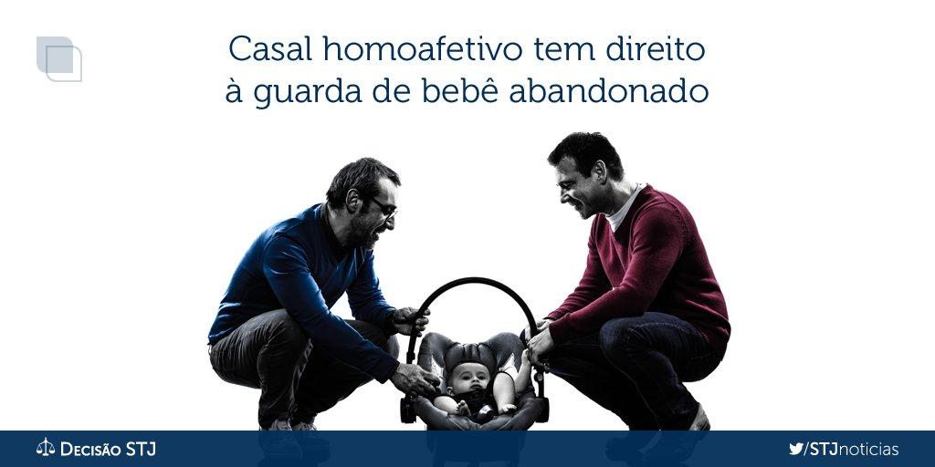 STJ mantém com casal homoafetivo guarda de bebê encontrado em caixa de papelão