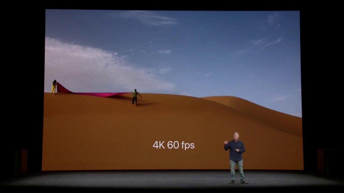 RT @IGN: #iPhone8 IN PICTURES: 4K 60fps & 1080p 240fps video + improved AR capability! #AppleEvent https://t.co/jcZd2ut9DA