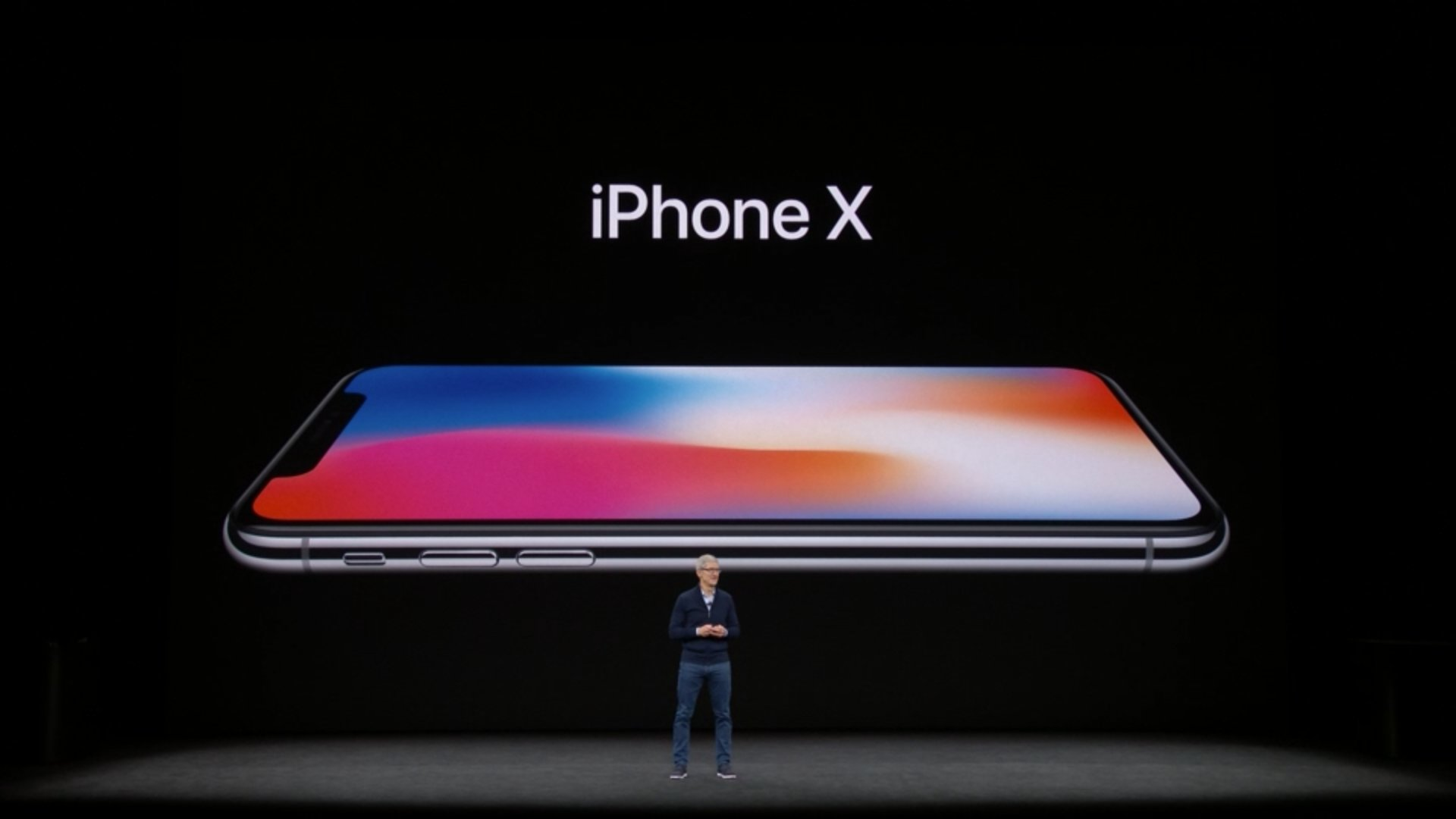 'This is the biggest leap forward since the original iPhone.'  iPhone X introduced at #AppleEvent https://t.co/8nSnZGAjlh