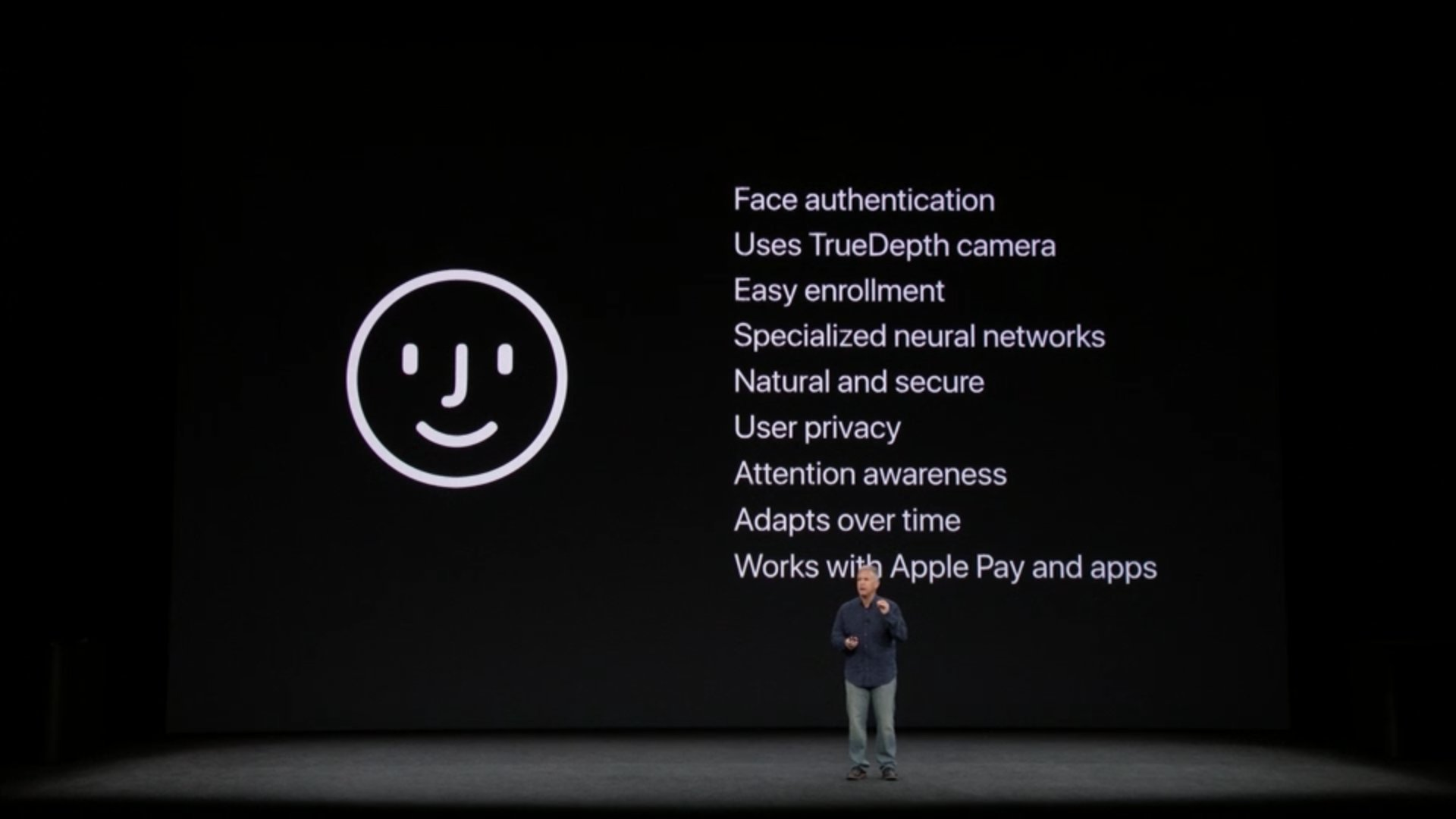 All of the details on Apple's new facial recognition software, FaceID. #AppleEvent https://t.co/yM82pYt6B1