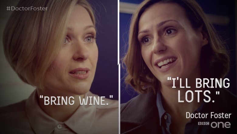 #DoctorFoster is off to another dinner party. Take. Cover. https://t.co/OkR1Sj9xRC