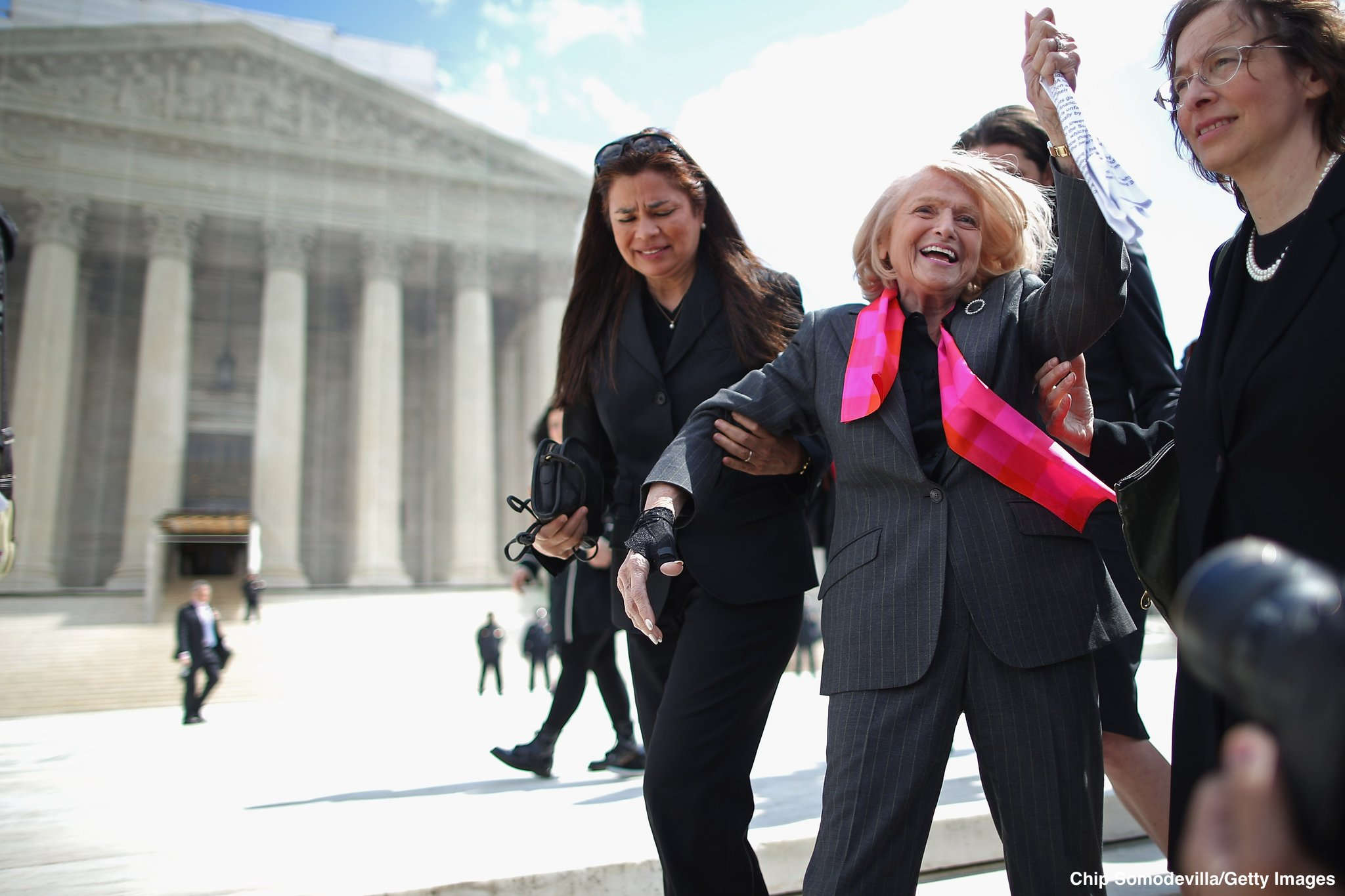 Edith Windsor, who played central role in end of federal gay marriage ban, dies at age 88: https://t.co/J6omuEh5d7 https://t.co/Y72mlsDMcC