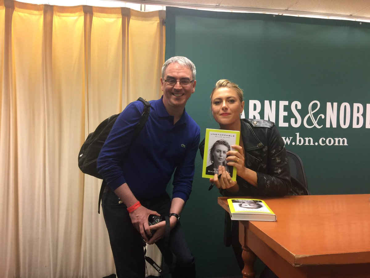 RT @adg1403: @MariaSharapova Great to meet you today, look forward to reading your book. #unstoppable https://t.co/RJSu0cVuyH