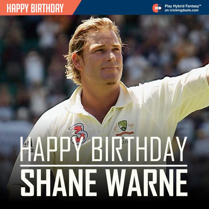 Happy Birthday, Shane Warne. The Australian cricketer turns 48 today.