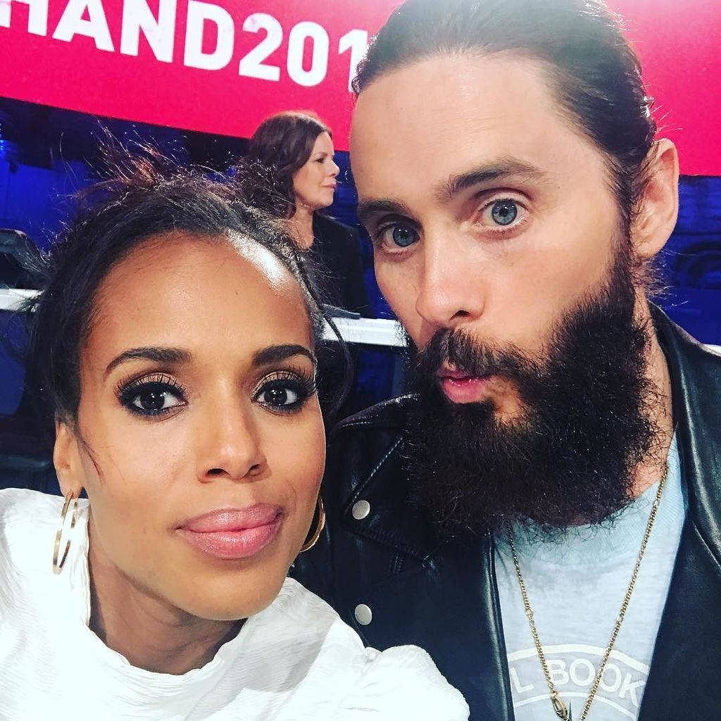 Me & @jaredleto waiting for you to CALL US! #handinhand https://t.co/LgJvpWS1ot https://t.co/yP9CL63xHR
