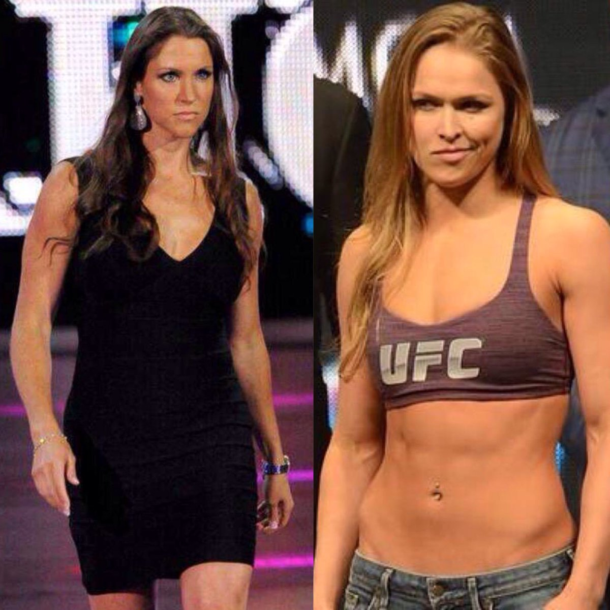 RT @WWEPPorn: Who's hotter?  RT for Stephanie McMahon Like for Ronda Rousey  #WWE #UFC #SDlive #MYC https://t.co/pPdnpFzM6w