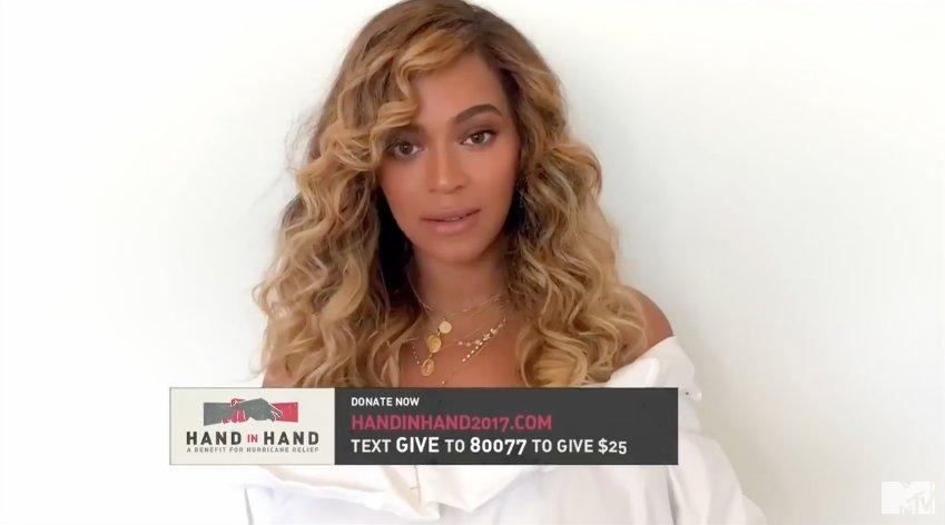 "HandInHand: @Beyonce says ""we're all in this together"""