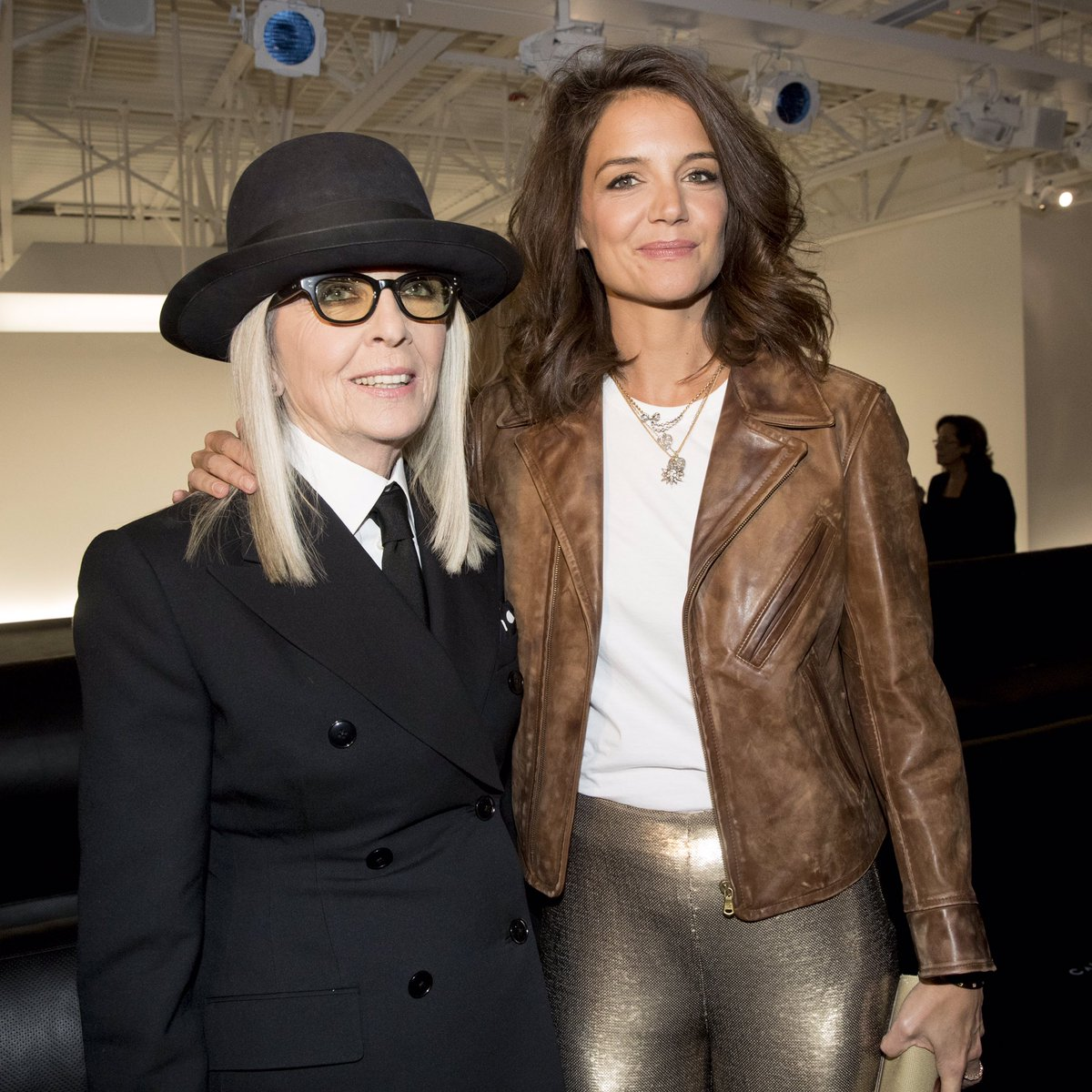 .@Diane_Keaton and @KatieHolmes212 at Ralph's Garage for the Fall 2017 Fashion Show. #RLFall2017 #NYFW https://t.co/KkJIXKIO5w