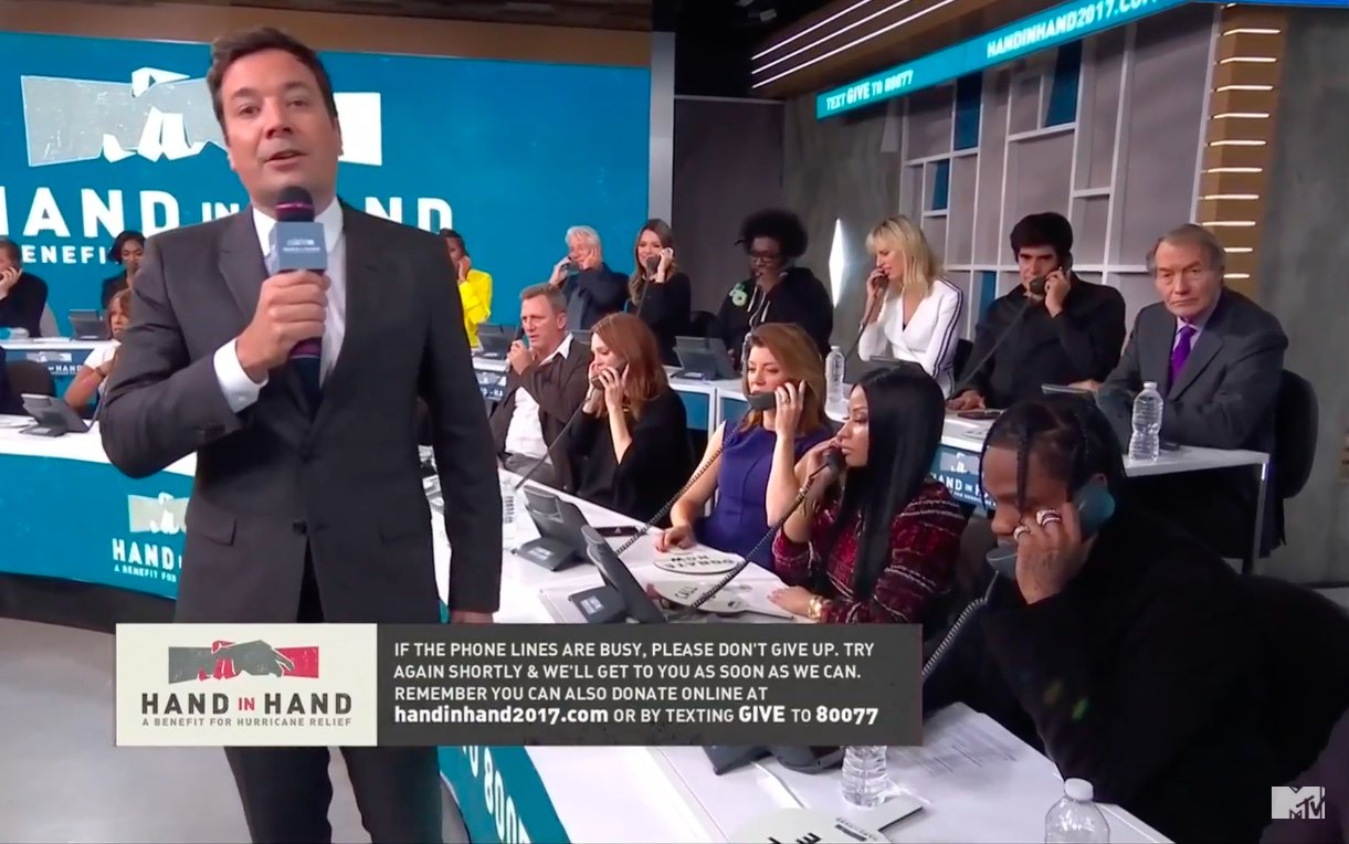 Fallon, Nicki Minaj and Travis Scott #HandInHand https://t.co/3e0qjrDAMt https://t.co/0xXiRGdRhx