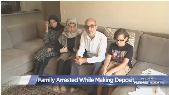 Entire Arab-American Family Arrested After Father Tries To Deposit Check https://t.co/qRaDHzOPrV https://t.co/UZeoEEqkMT