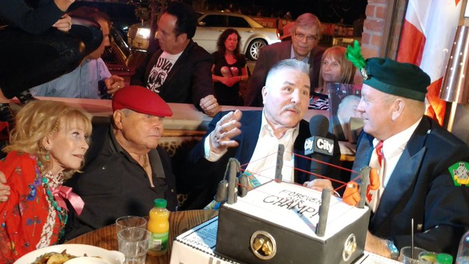 Happy Birthday George Chuvalo!!  What a turnout!!