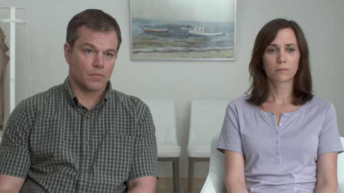 Matt Damon and Kristen Wiig make a bold decision in the official trailer for
