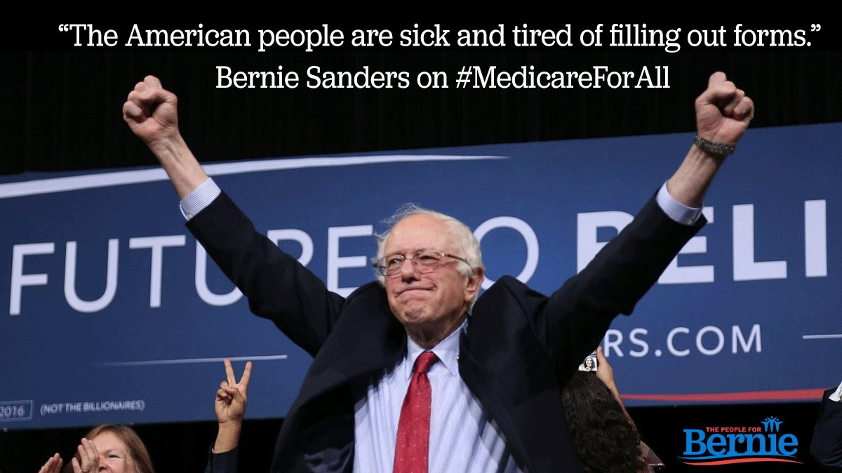 RT @BernieCrats1: RT People4Bernie: RT if you're sick of filling out forms #MedicareForAll https://t.co/TpcFAbwBxq