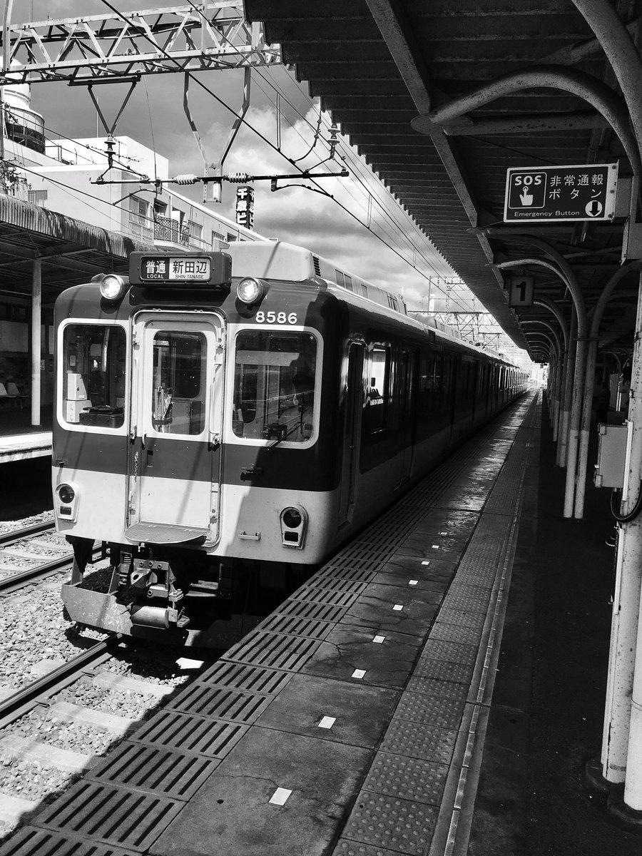本日は通院の日😊晴れていて気持ちがいい。#近鉄 #電車#モノクローム #白黒#写真好きな人と繋がりたい#写真撮ってる人と