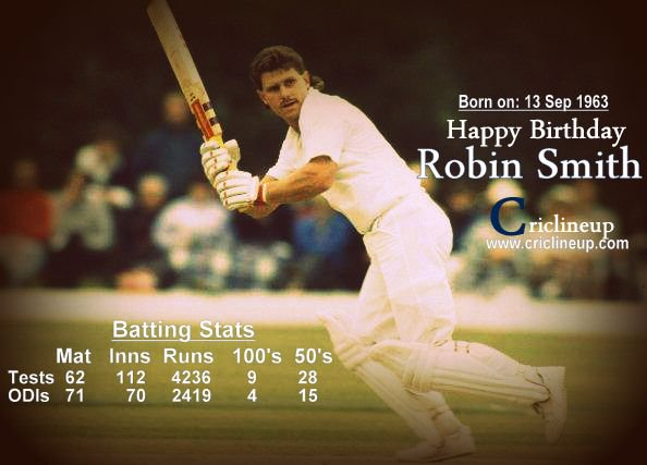 Happy Birthday to England\s finest batsman Robin Smith