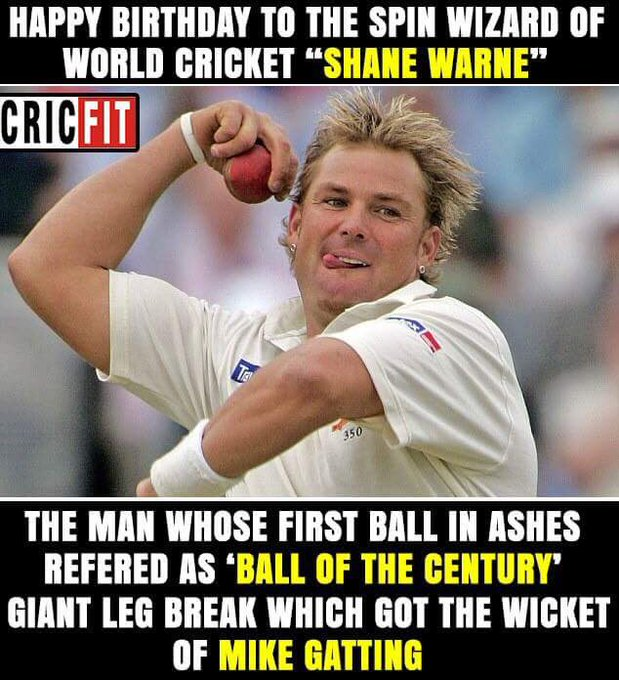 Happy birthday Shane Warne !