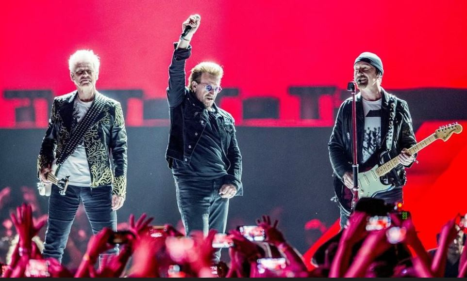 U2 and Bono preach unity and love to a boisterous crowd at Arrowhead