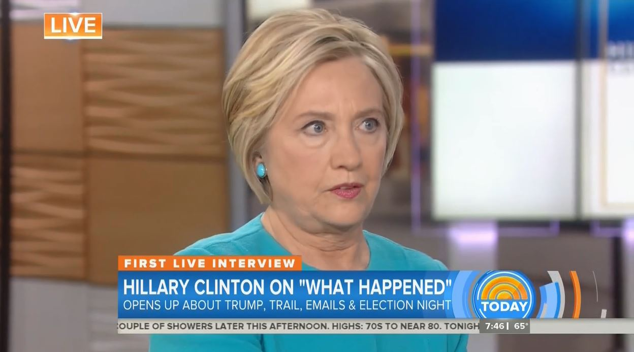 What Happened — Hillary Talks 'Sexism' on Today Show https://t.co/RBujhk3YlW https://t.co/CCtjhif0Yy
