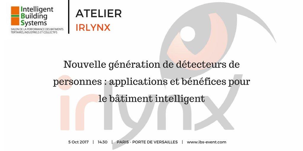 """test Twitter Media - [Atelier] """"Nouvelle génération de détecteurs de personnes : applications et bénéfices pour le #bâtimentintelligent"""" #IBSevent2017 https://t.co/cG2JRRA1ue"""
