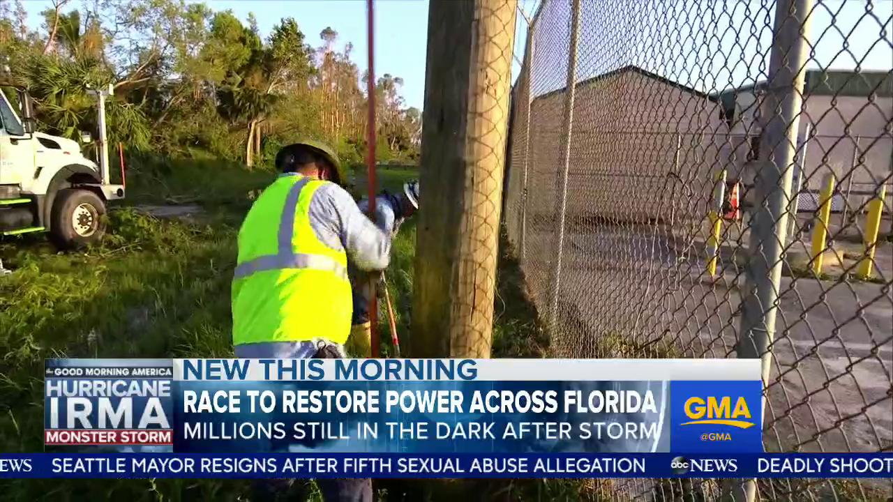 WATCH: Race to restore power across Florida; 4.3 million without power and in the dark: https://t.co/vmV1hZ3Lqf https://t.co/M9nUiajc7g