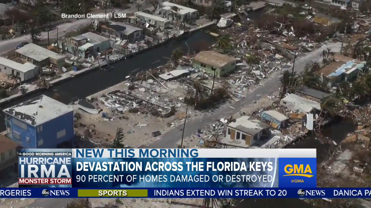 WATCH: Devastation across the Florida Keys; 90% of homes damaged or destroyed: https://t.co/gJ2zvfKs0c https://t.co/GR65hxHmLm