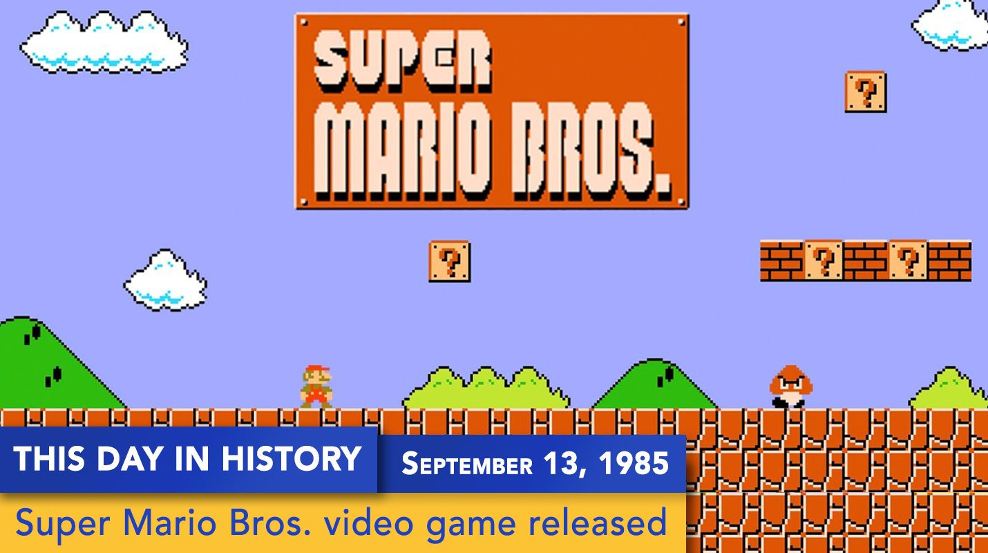Classic video game 'Super Mario Bros.' was released on this day 32 years ago. https://t.co/m7vmfzit4f
