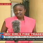 Main suspect in the Moi Girls School Nairobi fire tragedy presented in court