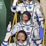 2 Americans, Russian head for International Space Station