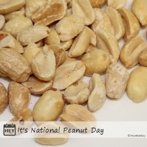 RT @HeyWhatDay: It's National Peanut Day! #NationalPeanutDay #PeanutDay https://t.co/u9Mkdt8kID
