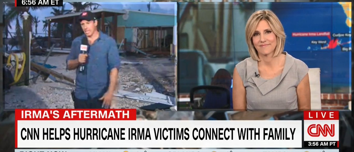 CNN Touts Its Generosity For Helping Hurricane Irma Victims https://t.co/ynmhG7khHe https://t.co/1cYElcl92I