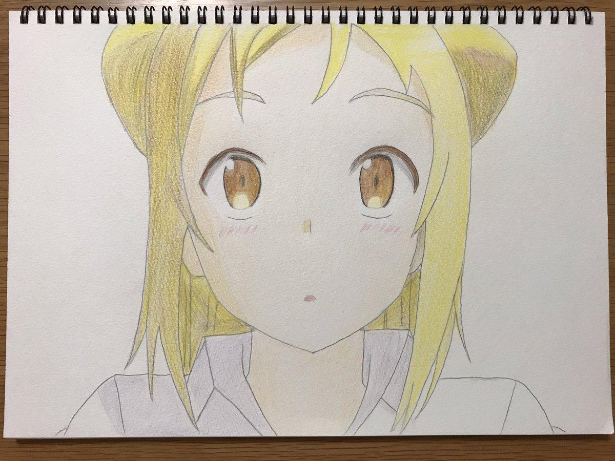 アニメ「亜人ちゃんは語りたい」のひかりちゃん描いてみました‼️色つけるのは初めてで、だいぶ雑ですいません...