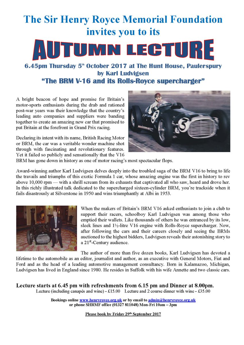 test Twitter Media - Autumn #Lecture @HenryRoyceFound October 5th by Karl Ludvigsen: https://t.co/8uVgEor6BY https://t.co/vcQvO8y4kF