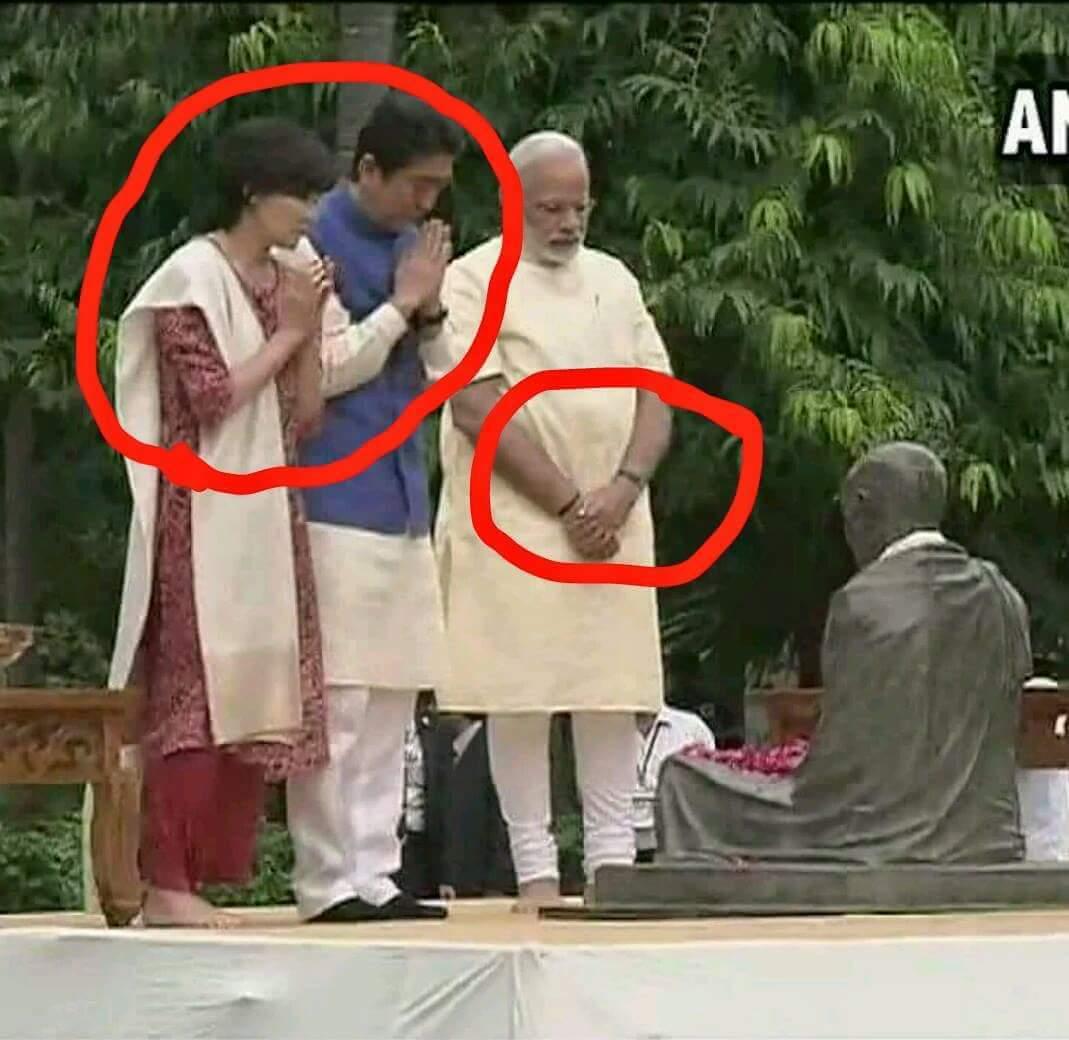 RT @vinaydokania: .@narendramodi - Once A Godse Bhakt Always A Godse Bhakt. #SwagatShinzoSan https://t.co/MYdTjAnRam