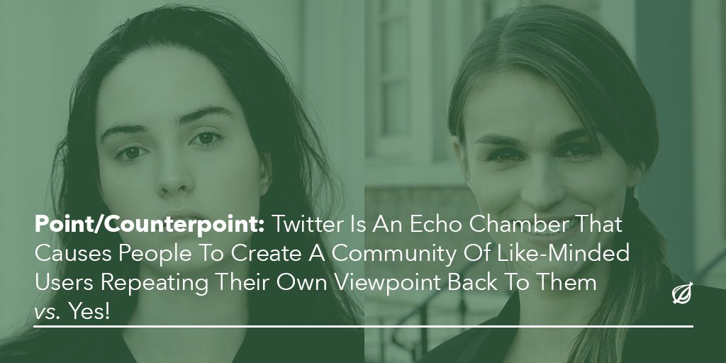 Point: We gravitate toward those we agree with.  Counterpoint: SO �� MUCH �� YES ��  https://t.co/trwgPHHMs2 https://t.co/hy7s0PXSLr