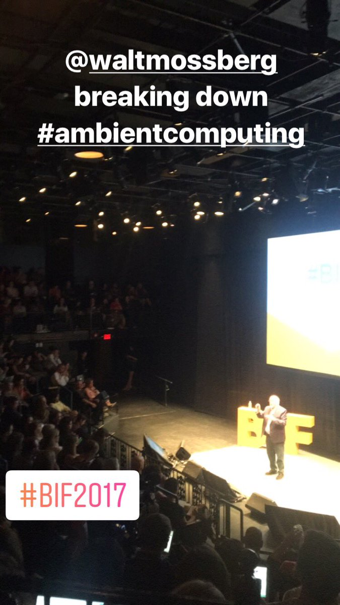 Tech master @waltmossberg sharing the importance of leadership in privacy issues with #ambientcomputing #BIF2017 https://t.co/Rx9Lp9B22W
