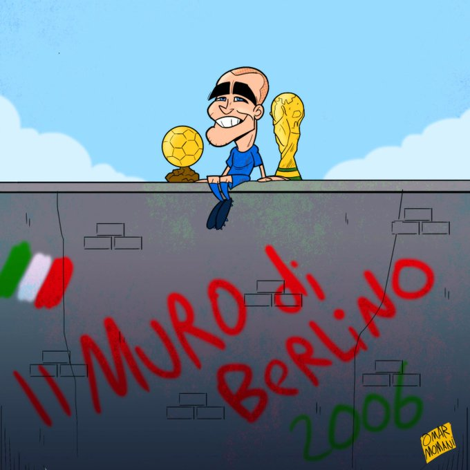 "Happy birthday Fabio Cannavaro ""Il Muro di Berlino\"" (\""The Berlin Wall\"")                \""            \"""