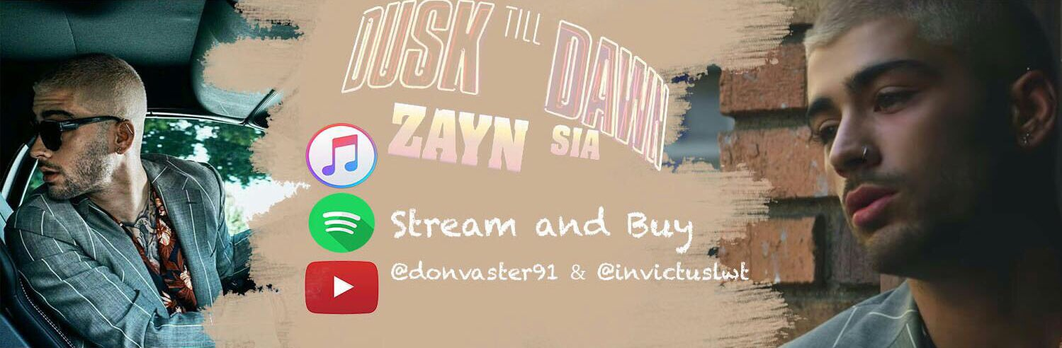 @zaynmalik we've made it for you! We love #DuskTillDawn  Would you mind following us?����  @donvaster91 & @invictuslwt https://t.co/d2q4zzkLix