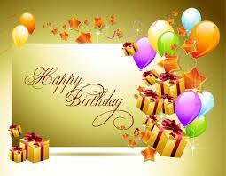 Happy birthday     Roger Howarth hope you have a wonderful day celebrating