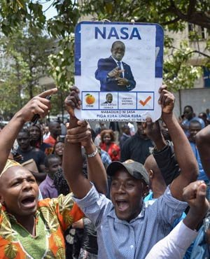 Riots in Kenya city after rumor about alleged election fraud