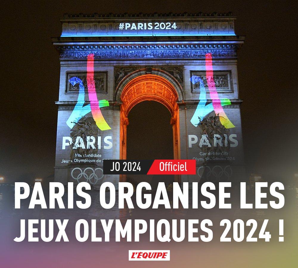 Paris a officiellement ses Jeux !  Plus d'infos : https://t.co/Ad3BkGcHtB https://t.co/UyPu9zYFXv