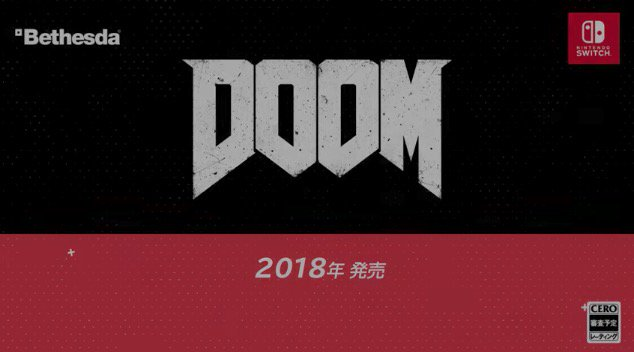 RT @INSIDEjp: 『DOOM』と『Wolfenstein II』が、ニンテンドースイッチに登場!2018年発売予定 https://t.co/O1WO1ZwI5l #NintendoDirect https://t.co/Epp7JQtPXI